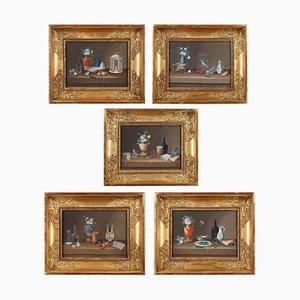 Still Lifes von Johann Rudolf Feyerabend, 5er Set