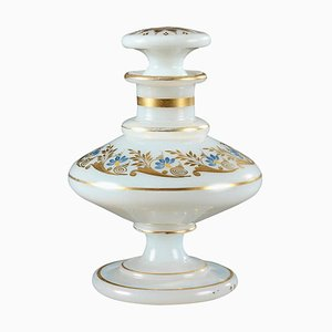 Early 19th-Century Charles X Opaline Perfume Bottle with Desvignes Decoration