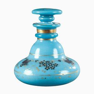 Charles X Blue Opalglas Parfümflasche