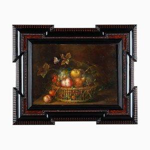 Julie Ribault, The Fruit Basket, XIX secolo, olio su tela, con cornice