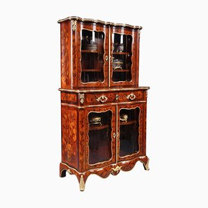 Louis XV Style Vitrine with Marquetry Decoration