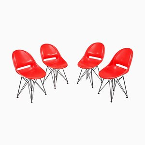 Red Chairs, Set of 4
