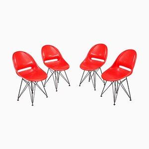 Rote Stühle, 4er Set