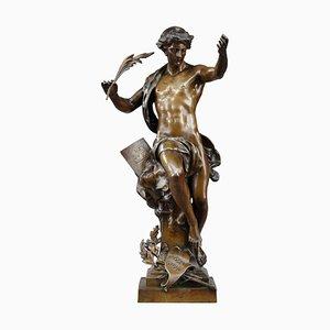 Bronze Pro Merito Sculpture by Emile-Louis Picault