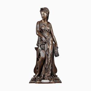 Léon Pilet, The Harvest, scultura allegorica in bronzo
