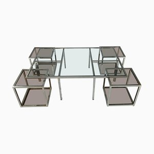 Coffee Table and 4 Removable Side Tables, Set of 5