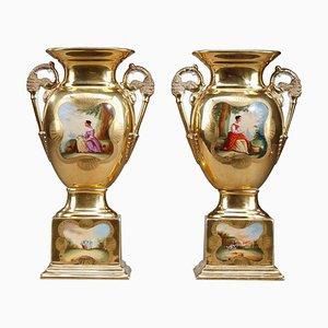 Oratorische Vasen aus Paris Porzellan, 2er Set