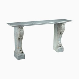 Empire Console in Veined White Marble