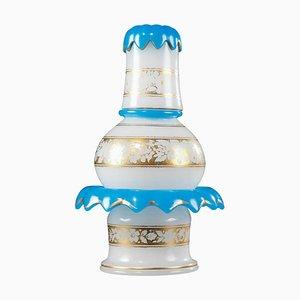 Verre à Eau en Cristal Opalin sur Socle de Saint-Louis Glassworks, Set de 3