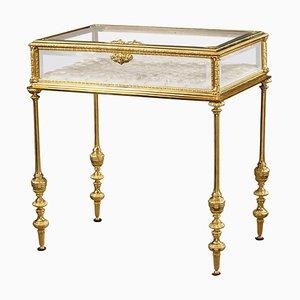 Napoleon III Vitrine aus vergoldeter Bronze und Glas im neoklassizistischen Stil