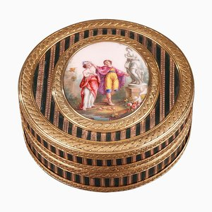 Louis XV Gold, Enamel and Lacquer Box