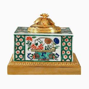 Famille Verte Porcelain Inkwell from Samson