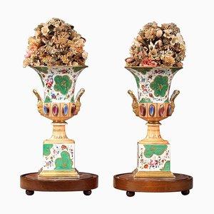 Louis Philippe Porcelain Medici Vases, Set of 2