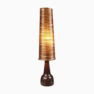 Ceramic, Rope and Resin Floor Lamp from Les Ateliers Accolay