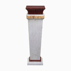 Mid-Century Säule aus Marmor, 19. Jh