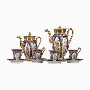 Charles X Style Paris Porcelain Coffee Service, Set of 10