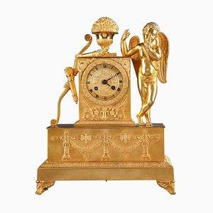 Early 19th Century Restoration Figural Mantel Clock