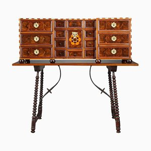 Early 18th Century German Marquetry Cabinet, Set of 2