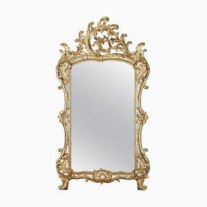 Barocker Spiegel mit vergoldetem Holzrahmen