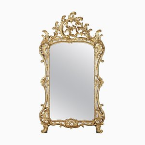 Miroir Style Baroque en Bois Doré