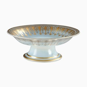 Charles X Opalglas Schale mit Dekoration von Desvignes