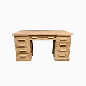 Großer Eichenholz Schreibtisch