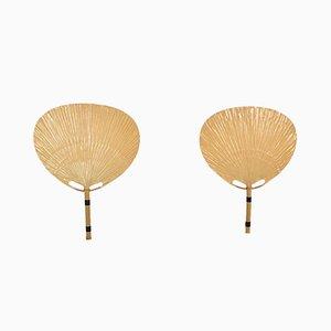 Uchiwa Wandlampen von Ingo Maurer für M Design, 1970er, 2er Set