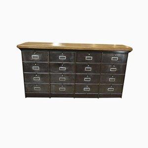 Low Flat Oak Dresser, 1950s