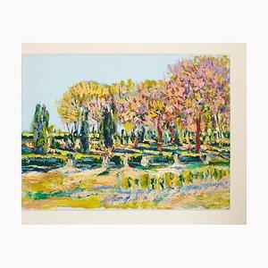 Primavera, óleo sobre tabla, enmarcado