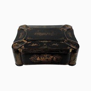 Caja de viaje de la época de Napoleón III, mediados del siglo XIX