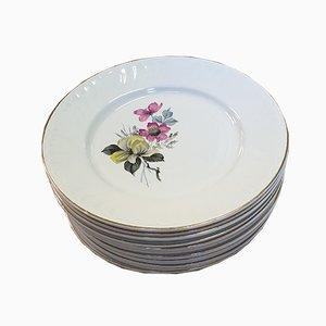Bohemian Plates from Keller and Guerrin Lunéville Badonviller, Set of 9
