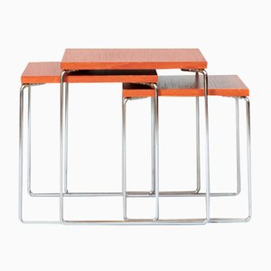 Tavolini ad incastro Brabantia, anni '60, set di 3