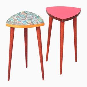 Dutch Vintage Side Tables, 1960s, Set of 2