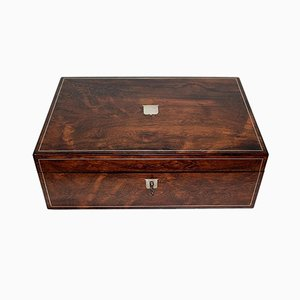 Caja de escritura de viaje Pearce Maker London, finales del siglo XIX