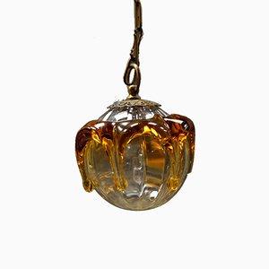 Lampada a sospensione vintage in vetro di Murano, Italia, anni '60
