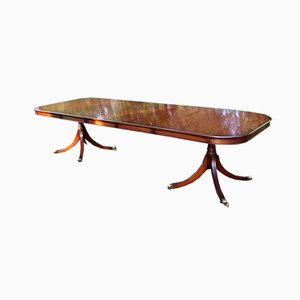 Mahogany Dining Table with 3 Leaves, 1960s