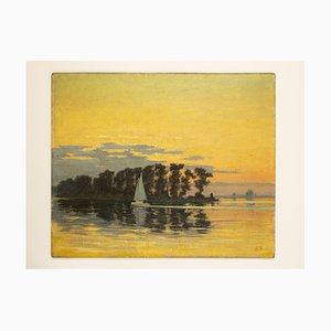 Sunset, Oil on Panel, Enmarcado