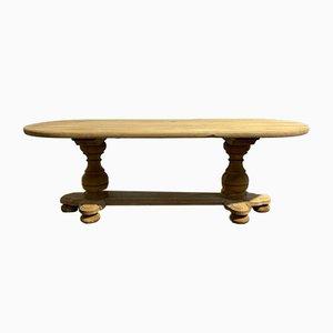 Französischer Esstisch aus Gebleichtem Eichenholz