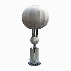 Mid-Century Lampe mit Cocoon Schirm