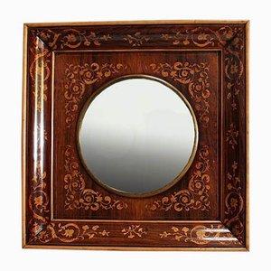 Specchio Carlo X intarsiato, inizio XIX secolo