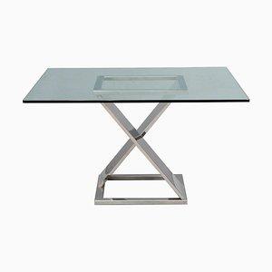 Stahl und Glas Tisch, 1970er