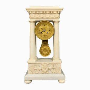 Empire Clock in White Carrara Marble