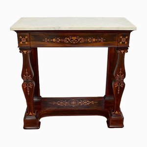 Small Charles X Marquetry Console, Early 19th Century
