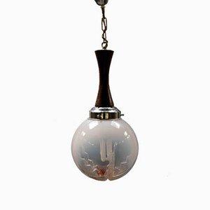 Mid-Century Murano Glaskugel Lampe, Italien, 1960er
