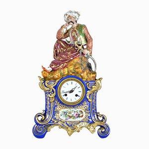 Porcelain Pendulum by Jacob Small, 19th Century