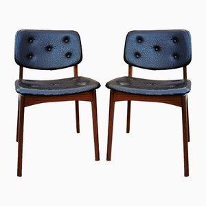 Mid-Century Stühle, Dänemark, 1960er, 2er Set