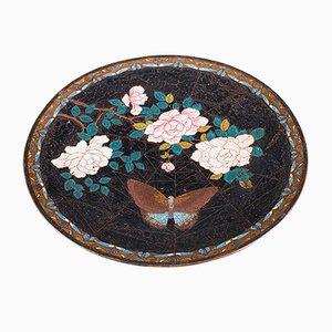 Piatto decorativo Cloisonne, Giappone, XIX secolo
