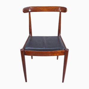 Chairs in Rosewood and Leather, Set of 6