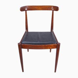 Stühle aus Palisander und Leder, 6er Set