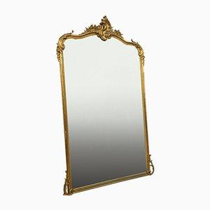 Napoleon III Spiegel aus goldenem Holz, 1850er